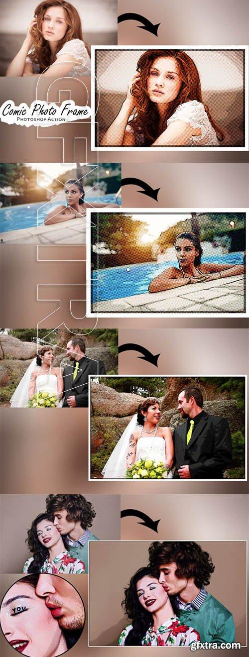 Comic Photo Frame - Photoshop Action