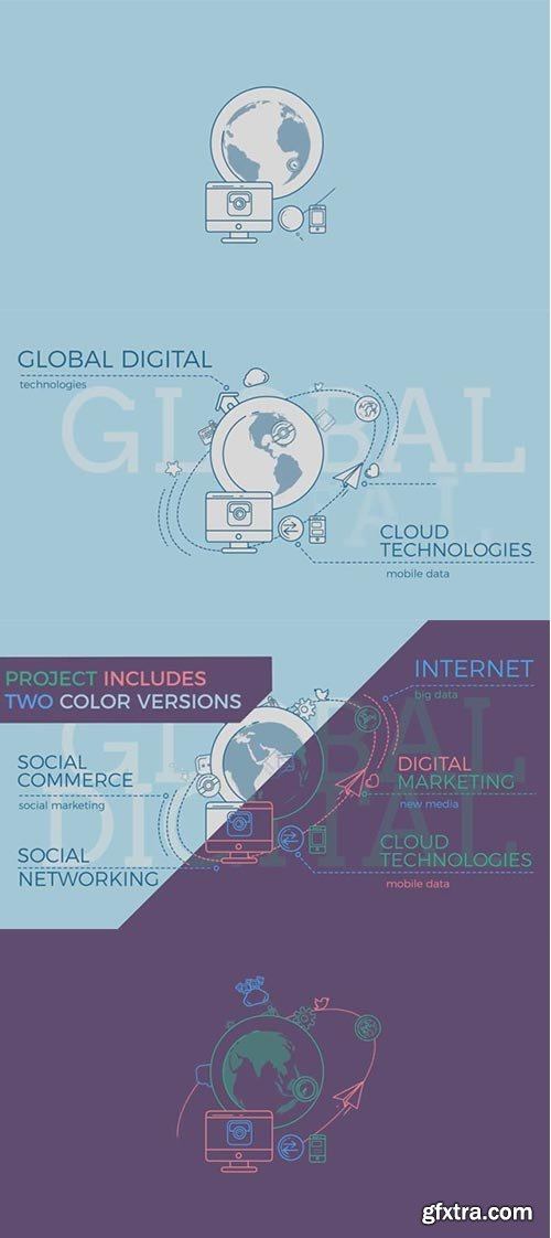 Pond5 - Global Digital World Infographic - 078904880