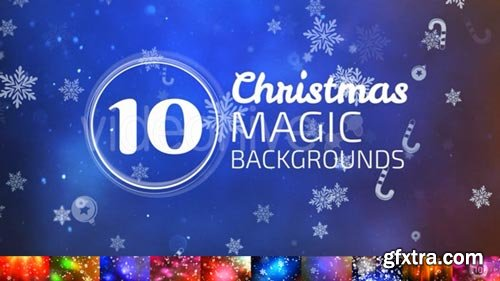 Videohive - 10 Christmas Backgrounds - 13795388