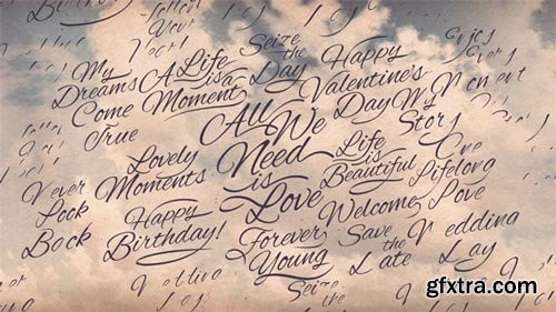 Videohive - Romantic Calligraphic Titles Background - 15006777