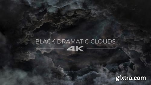 Videohive - Black Dramatic Clouds - 19276254