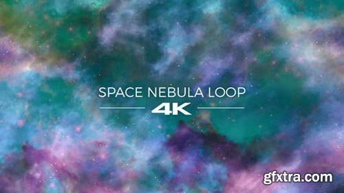 Videohive - Blue And Green Space Nebula - 19276483
