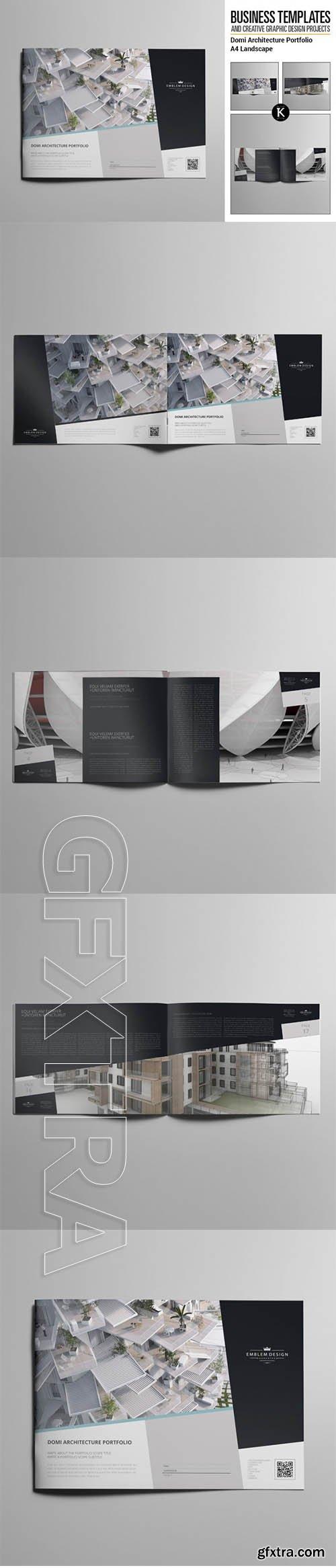 keboto - Domi Architecture Portfolio A4 Landscape