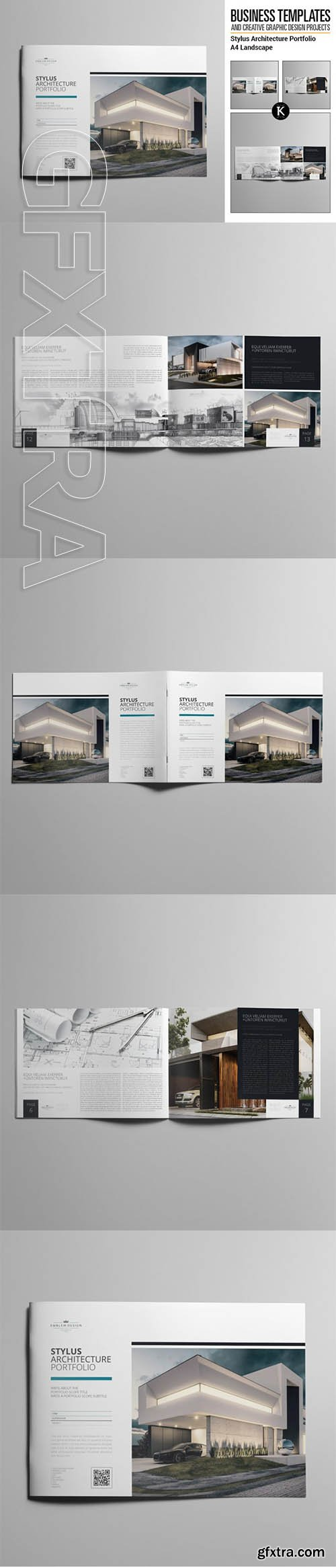 keboto - Stylus Architecture Portfolio A4 Landscape