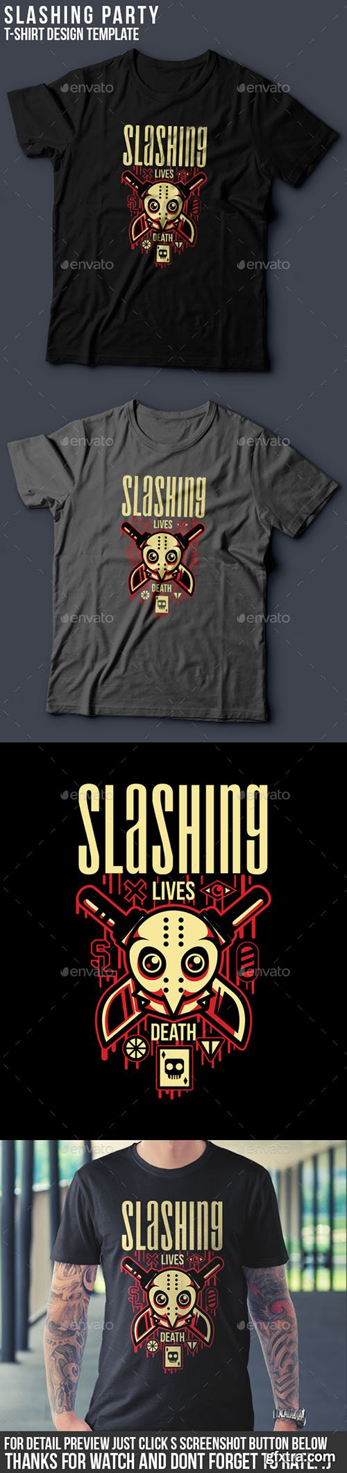 GraphicRiver - Slashing Party T-Shirt Design 15143026