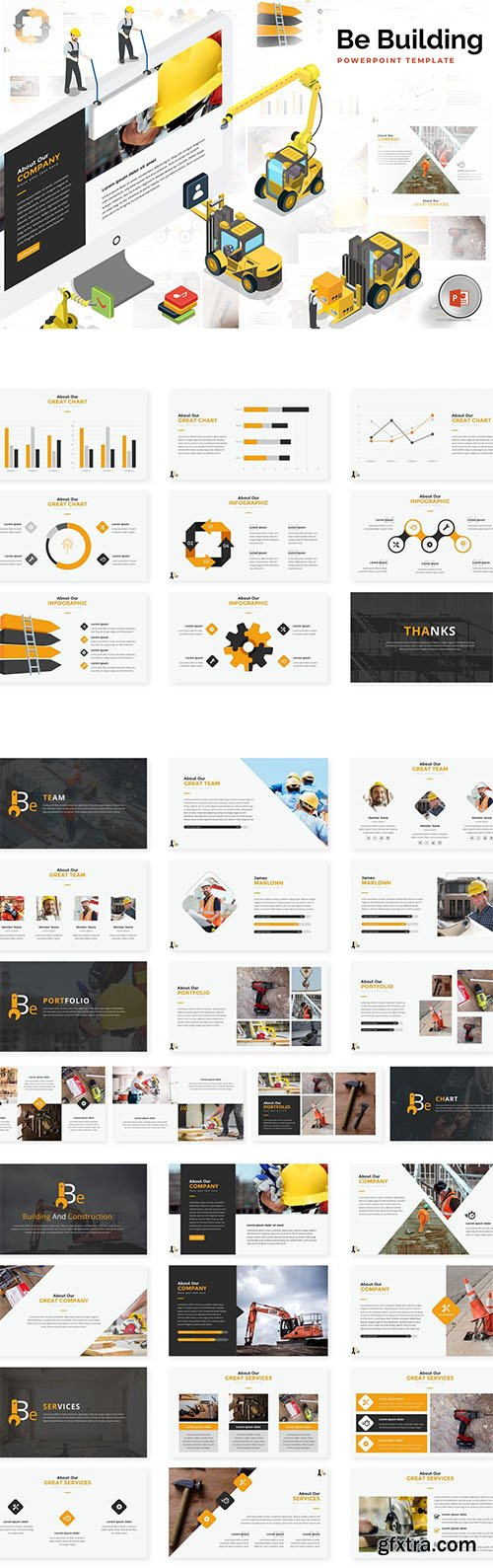 Building & Construction PowerPoint, Keynote and Google Slides Templates