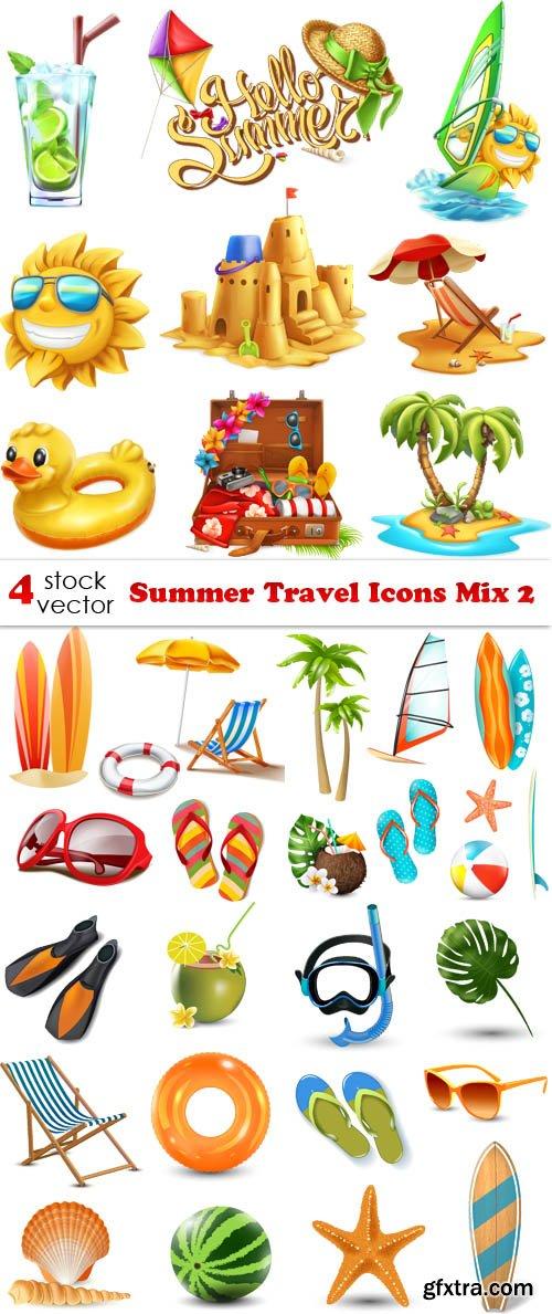 Vectors - Summer Travel Icons Mix 2