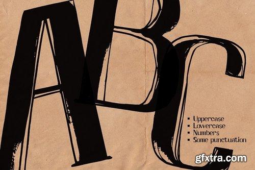 CM - AFISHA PREMIERE hand lettered font 2540607