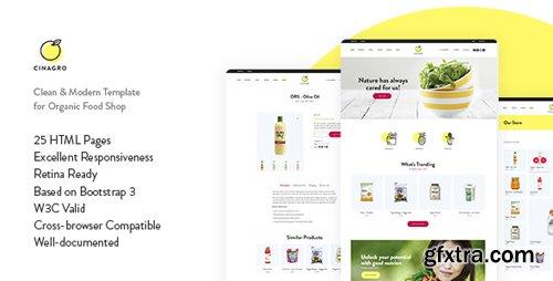 ThemeForest - Cinagro v1.0 - Organic Food Shop HTML Template - 22134456