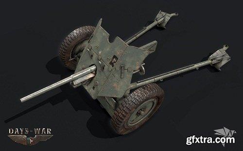 PAK-36 GUN 3D Model
