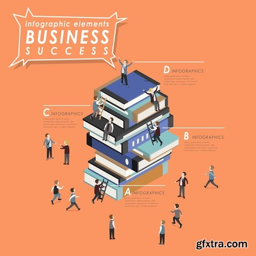 Business infographics education Web design element icon 25 EPS