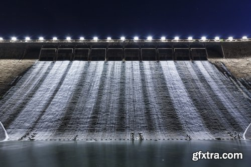Dam barrage pool roofed river water energy 25 HQ Jpeg