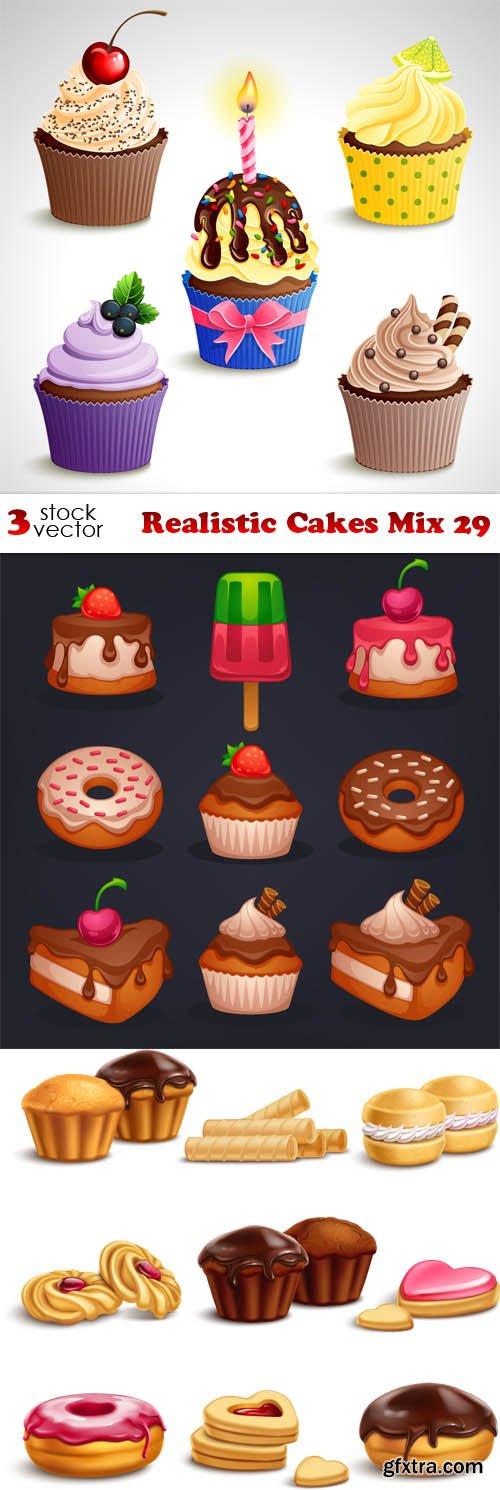 Vectors - Realistic Cakes Mix 29