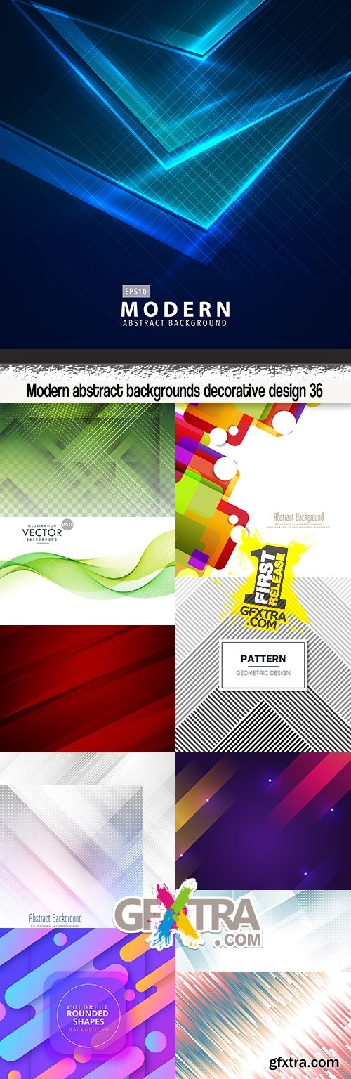 Modern abstract backgrounds decorative design 36