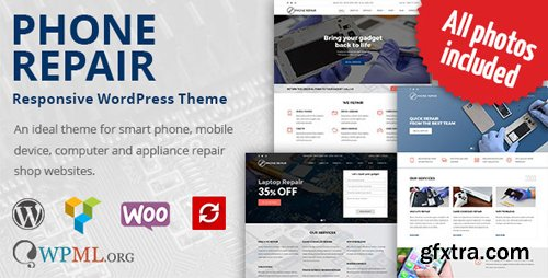 ThemeForest - Phone Repair v1.7.2 - Mobile, Cell Phone and Computer Repair WordPress Theme - 19191980