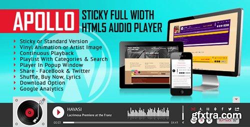 CodeCanyon - Apollo - Sticky Full Width HTML5 Audio Player - WordPress Plugin v1.7 - 20158996