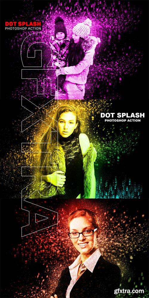 Dot Splash Photoshop Action