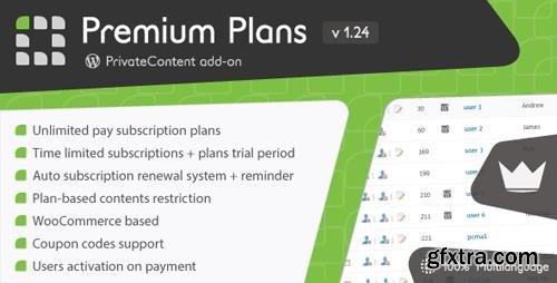 CodeCanyon - PrivateContent - Premium Plans add-on v1.24 - 15316736