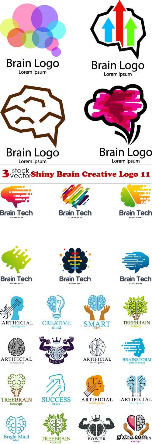 Vectors - Shiny Brain Creative Logo 11