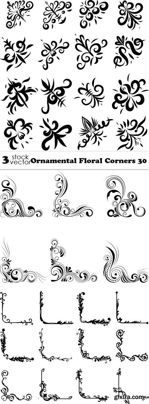 Vectors - Ornamental Floral Corners 30