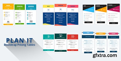 CodeCanyon - PLAN IT v1.0 - Bootstrap Pricing Tables - 21858553