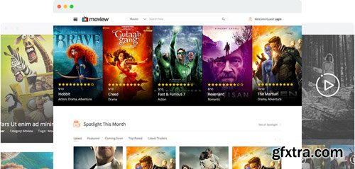 JoomShaper - Moview v2.1 - Movie Database & Review Joomla Template
