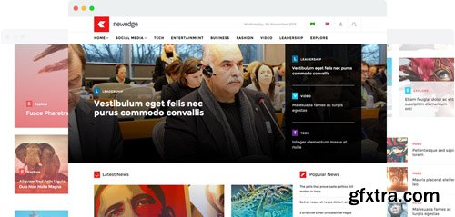 JoomShaper - Newedge v2.2 - Responsive Joomla Magazine News Template