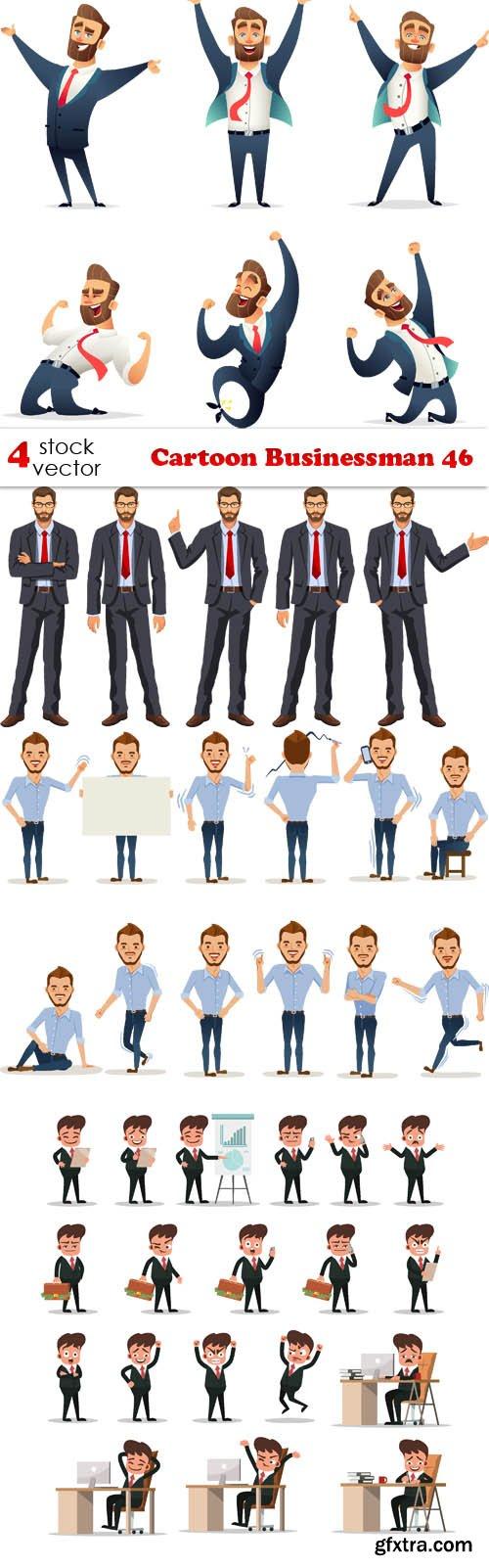 Vectors - Cartoon Businessman 46
