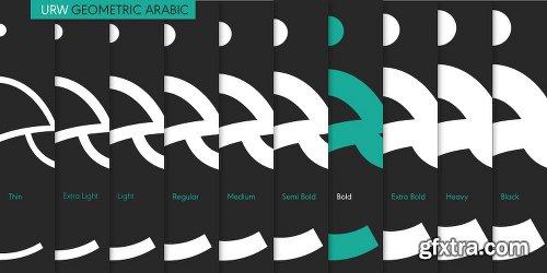 URW Geometric Arabic Font Family - 10 Fonts