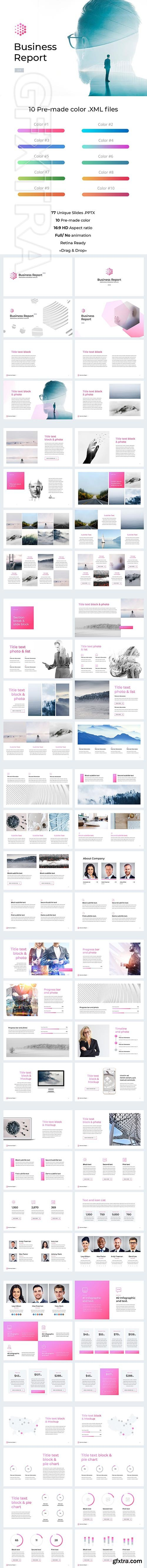CreativeMarket - Business Report 2,0 for PowerPoint 2684014