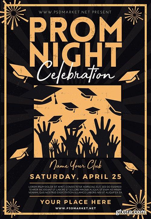 Prom Night Celebration Flyer – PSD Template
