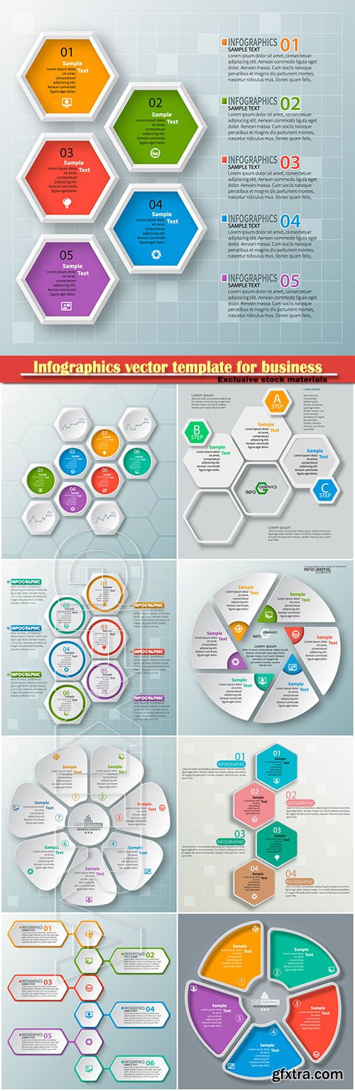 Infographics vector template for business presentations or information banner # 77