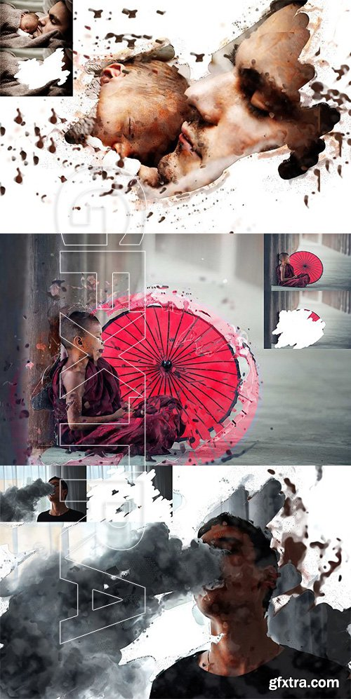 CreativeMarket - Abstract Art Photoshop Actions 2685314