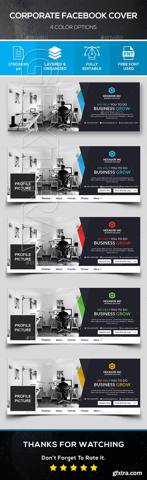 GraphicRiver - Corporate Facebook Cover 22192194