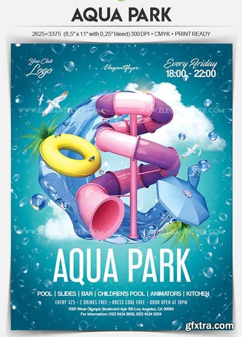 Aqua Park V1 2018 Flyer PSD Template