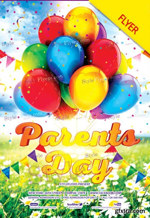 Parents' Day V7 2018 Flyer PSD Template