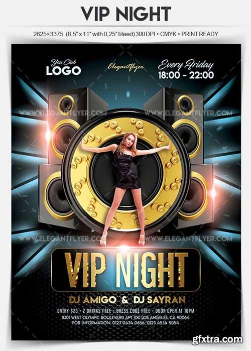 VIP Night V1 2018 Flyer PSD Template