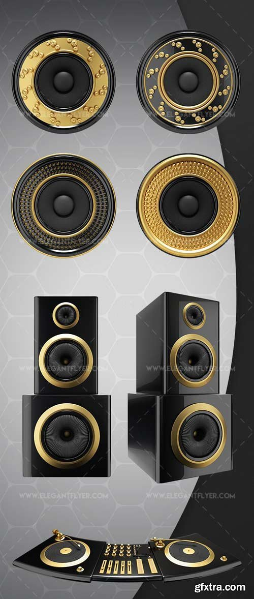 Speakers V1 2018 3d Render Templates