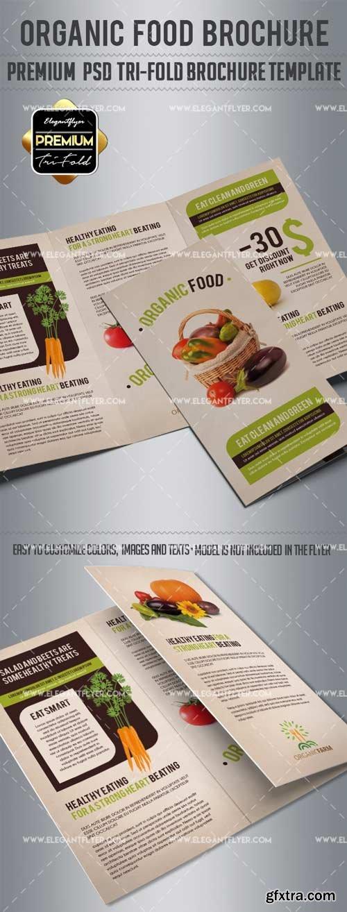 Organic Food V5 2018 Tri-Fold Brochure PSD Template