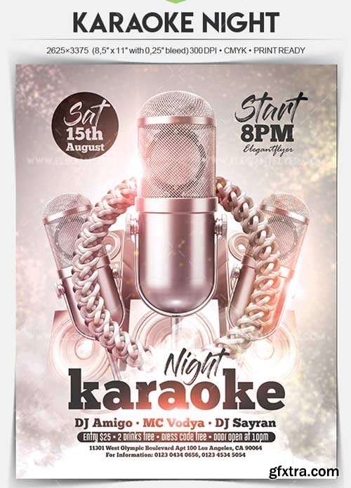 Karaoke Night V20 2018 Flyer PSD Template