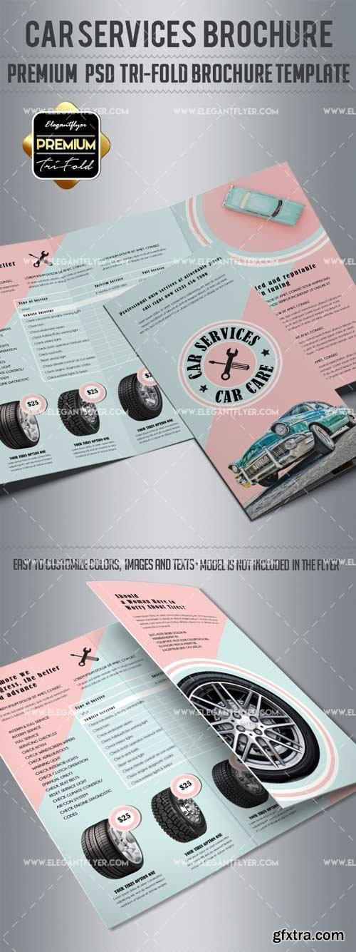 Car Service V5 2018 Tri-Fold Brochure PSD Template