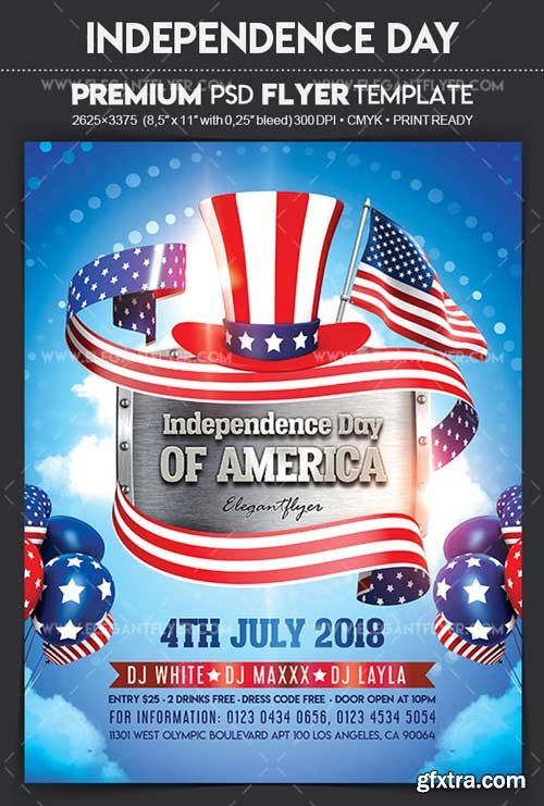 Independence Day V27 2018 Flyer PSD Template