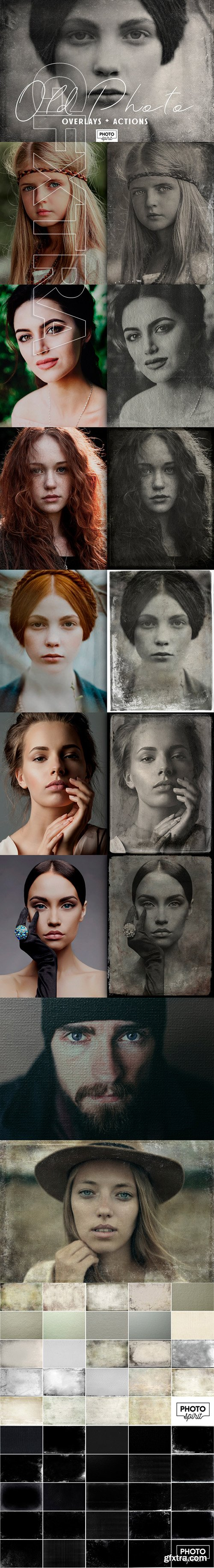 CreativeMarket - Old Photo Effect Overlays Actions 2709006
