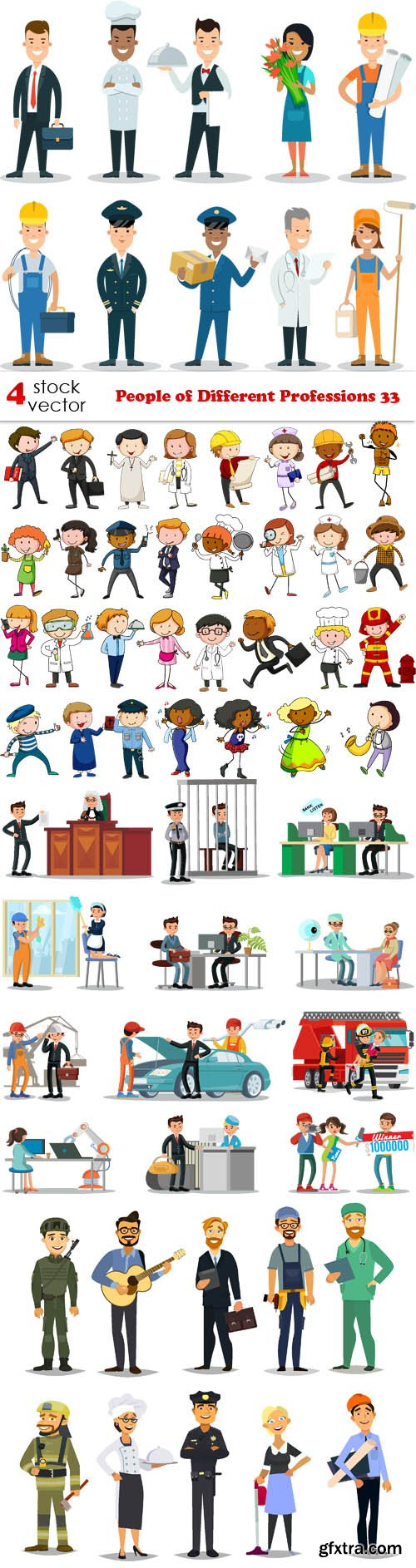 Vectors - People of Different Professions 33