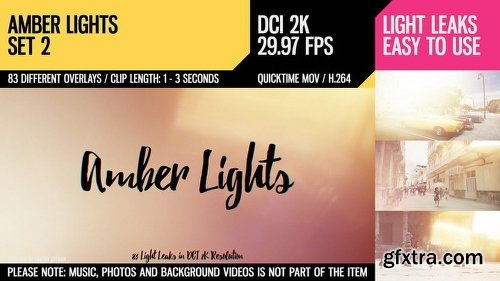 Videohive Amber Lights (HD Set 2) 21283298