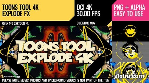 Videohive Toons Tool 4K (Explode FX) 21100289