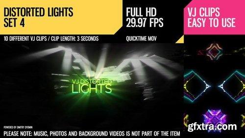 Videohive VJ Distorted Lights Set 4 18222676