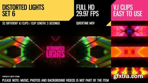 Videohive VJ Distorted Lights (Set 6) 19270884