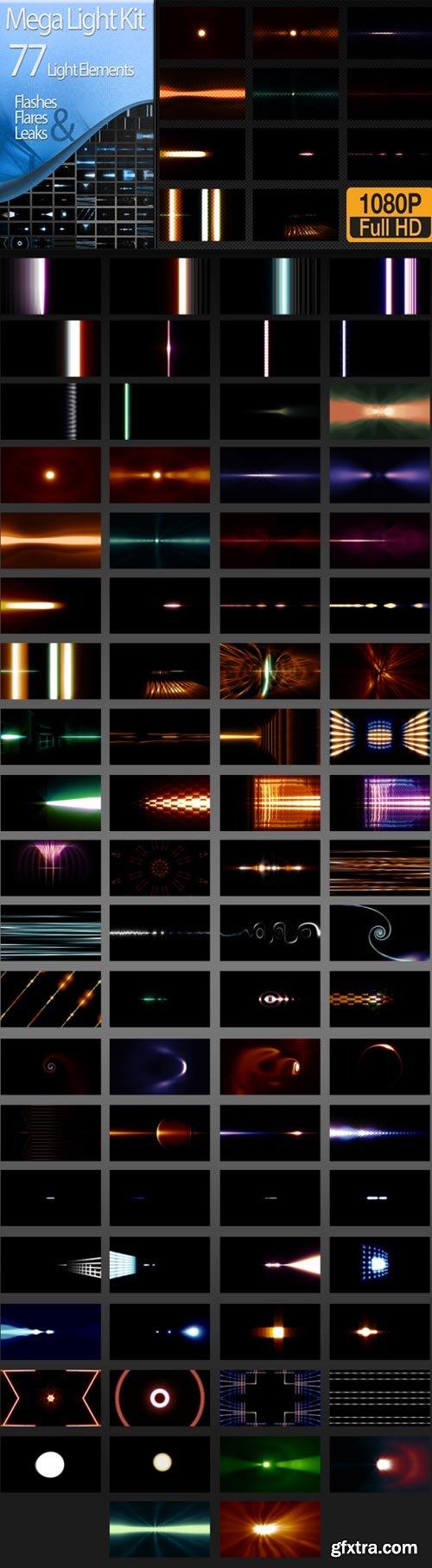 Videohive - Editor\'s Mega Light Kit - 77 Light Elements - 14081344