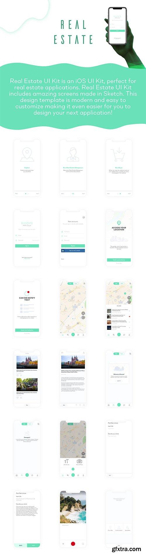 Real Estate iOS UI Kit